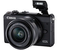 CANON EOS M100 Kit Systemkamera 24.2 Megapixel mit Objektiv 15-45 mm