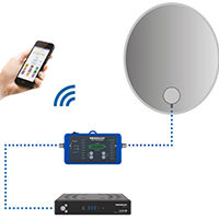 Satfinder mit Smartphone-Anbindung, inkl. Powerbank
