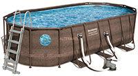 Bestway Power Steel Swim Vista Oval Frame Pool Set, 549 x 274 x 122 cm