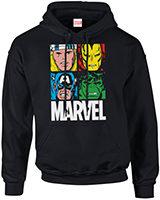 verschiedene Marvel Hoodies
