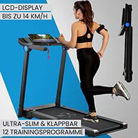 ArtSport Ultra Slim Laufband SR1418 klappbar - große Lauffläche