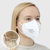 Amec FFP2 Maske HT9580 CE 0598 zertifiziert mit Ohrschlaufe - 50 Stück n hygienischer Einzelverpackung