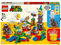 LEGO Super Mario - Baumeister-Set für eigene Abenteuer plus LEGO® Super Mario 30385 Superpilz Überraschung - Erweiterungsset