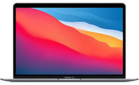 Apple MacBook Air (M1-2020) CZ124-0010 SpaceGrau Apple M1 Chip mit 7-Core CPU 8GB RAM 512GB SSD macOS - 2020