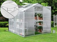 Juskys Aluminium Gewächshaus mit Fundament für Garten