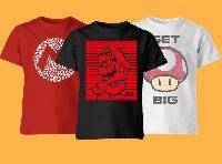 Kinder T-Shirts mit Super Mario Motiven