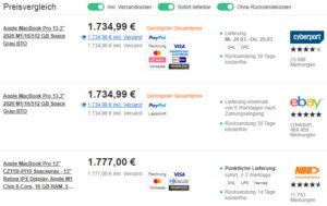"Apple MacBook Pro 13,3"" 2020 M1/16/512 GB Space Grau BTO"