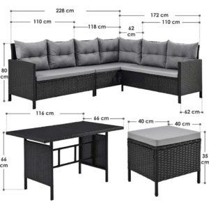 Sitz Lounge Set für den Wintergarten oder für draußen