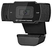 CONCEPTRONIC Webcam AMDIS 720p HD mit Mikrofon