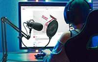 youtube Mikrofon mit Windschutz für eine klare und deutliche Sprachübertragung