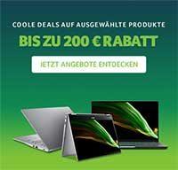 Coole Deals auf ausgewählte Produkte: Bis zu 200 € Rabatt bei Acer