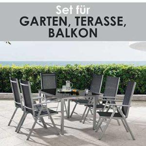 ArtLife Aluminium Gartengarnitur Milano mit Tisch und 6 Stühlen