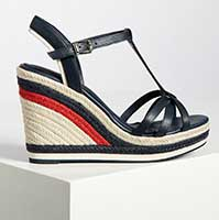 Tommy Hilfiger Wedge Tommy Strappy High, navy/multi