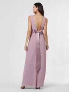 Hübsches Abendkleid in Rosa, tailliert mit großer Schleife hinten