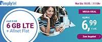 Allnet-Flat Tarif ist mit aktionsweise 6 GB LTE Datenvolumen für 6,99 €