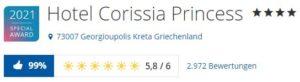 Urlaub im Hotel Corissia Princess Georgioupolis, Kreta, Griechenland