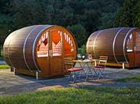 Kurzurlaub in Deutschland mit Übernachtung in Holz Fass