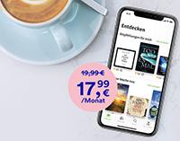 Flatrate unbegrenzt Lesen und Hören bei Thalia für 17,99 EUR pro Monat
