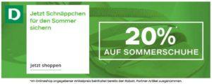 Sommer Schuhe Sale bei Deichmann im Juni 2021