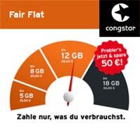 Handy Tarife - Fair Flat von Congstar: zahlen nur das was man verbraucht