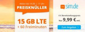 Preiswerte Mobilfunktarife bei sim.de